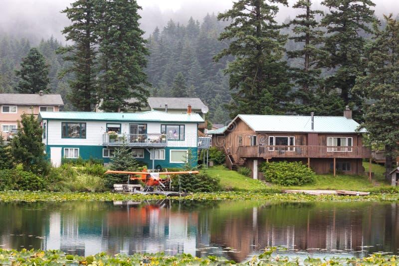 Kodiak, Lilly jezioro, hydroplan baza, Kodiak fotografia stock