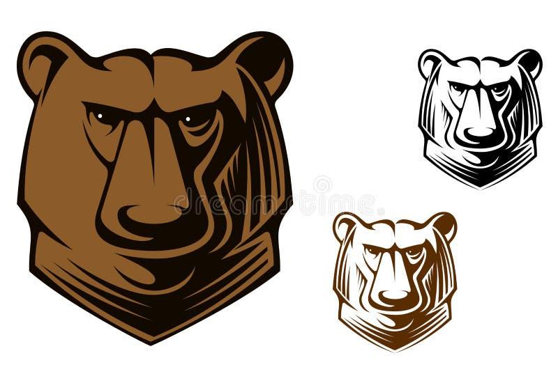 Kodiak niedźwiedzia maskotka royalty ilustracja