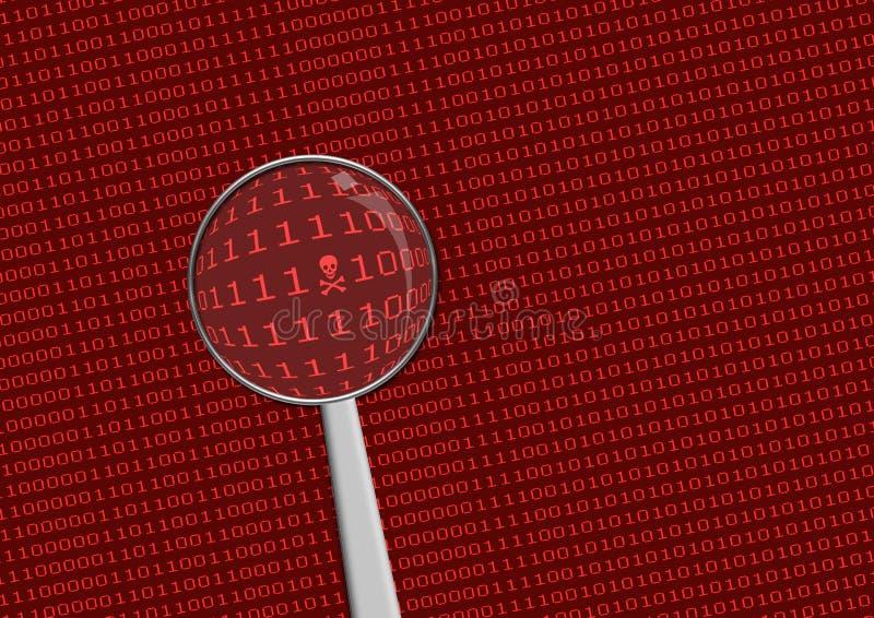 Kodieren Sie das Suchen lizenzfreie stockfotos