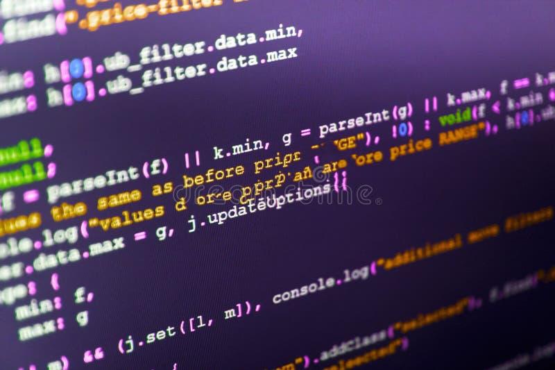 Kodifiera för informationsteknikwebsite arkivfoton
