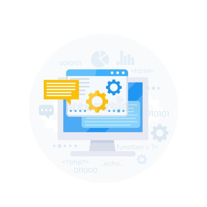 Kodifiera programvaruutveckling, appintegration royaltyfri illustrationer