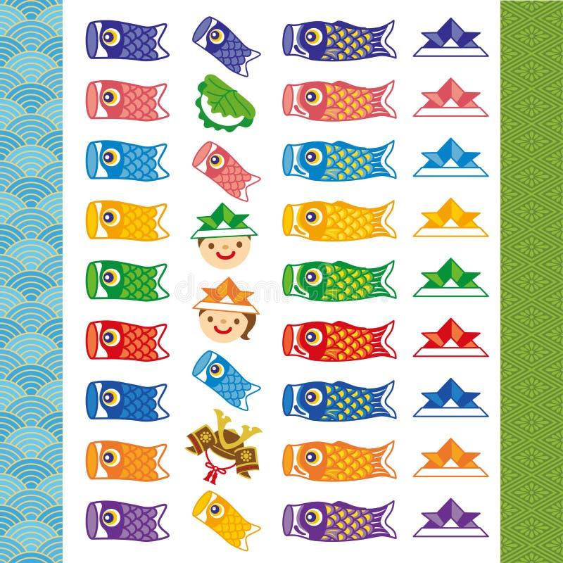 Kodomo-ninguno-hola ejemplos del día de Children's libre illustration