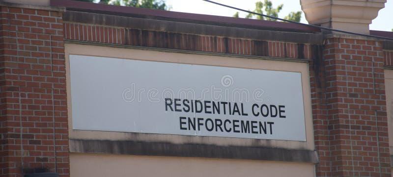 Kodu egzekwowanie Mieszkaniowy obraz stock