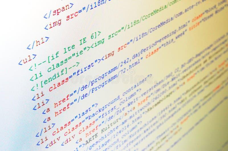 kodu komputer zdjęcie stock