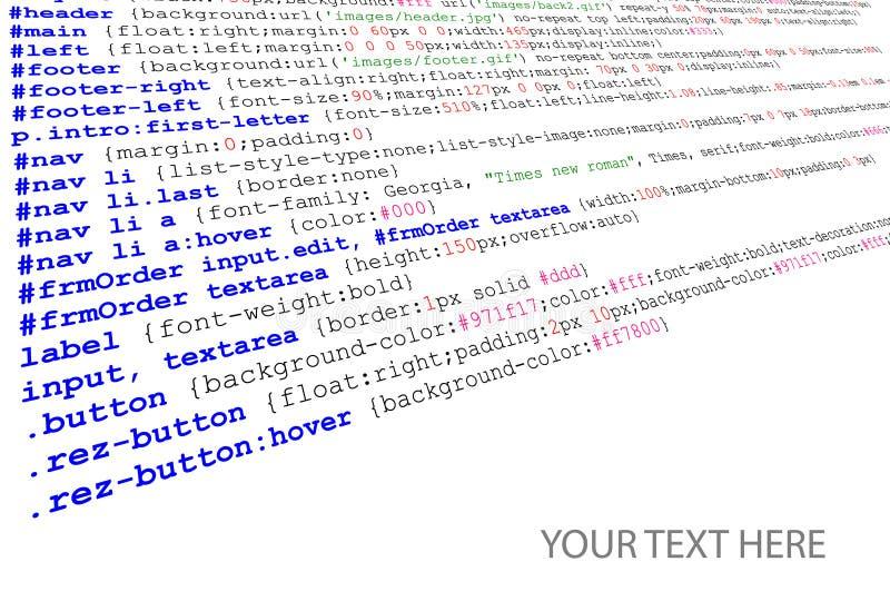 kodu pozyci źródła stylesheet ilustracja wektor