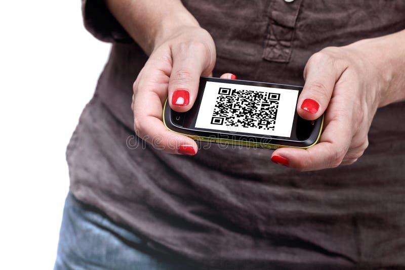 kodu qr smartphone obraz stock