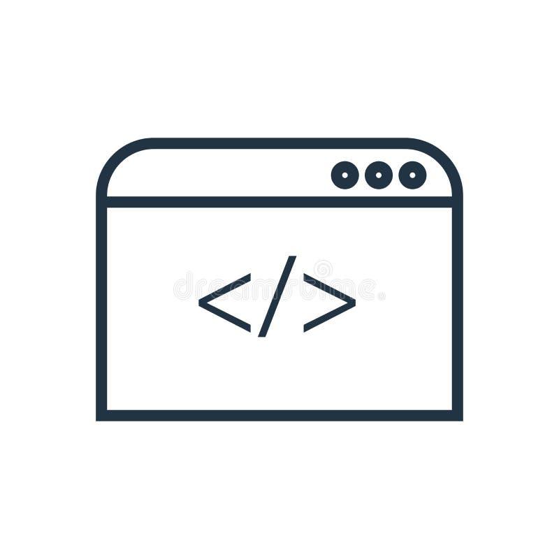 Koduje ikona wektor odizolowywającego na białym tle, kodu znak ilustracja wektor