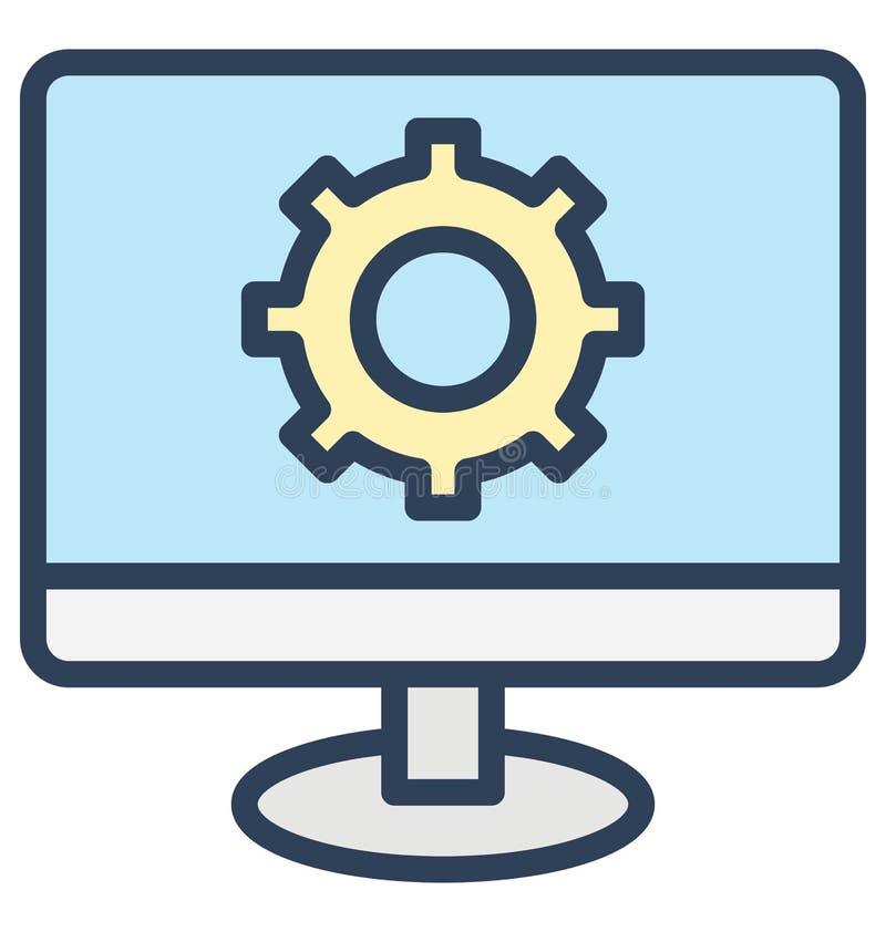 Koduje ilość, sieci rozwój Odizolowywająca Wektorowa ikona Która może być bardzo łatwo redaguje lub modyfikujący ilustracji