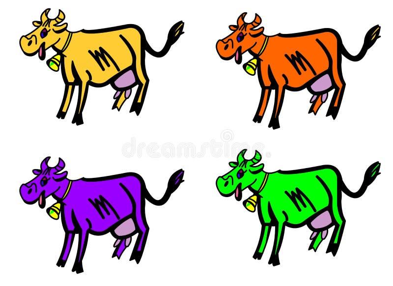 Koe. stock afbeelding