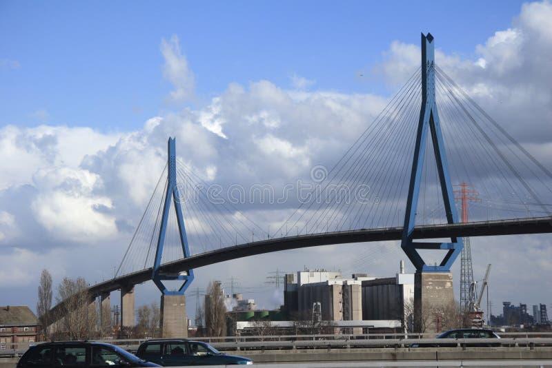 Koehlbrand-Puente (d) fotografía de archivo libre de regalías