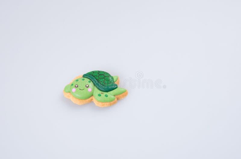"""koek decoratie of de eigengemaakte schildpad\"""" cake van \ decoratie van de de """"op een rug royalty-vrije stock afbeelding"""
