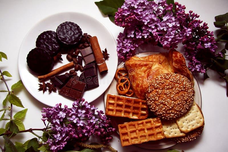 Koekjes en chocolade 08 royalty-vrije stock afbeeldingen
