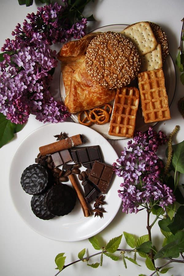 Koekjes en chocolade 09 royalty-vrije stock foto