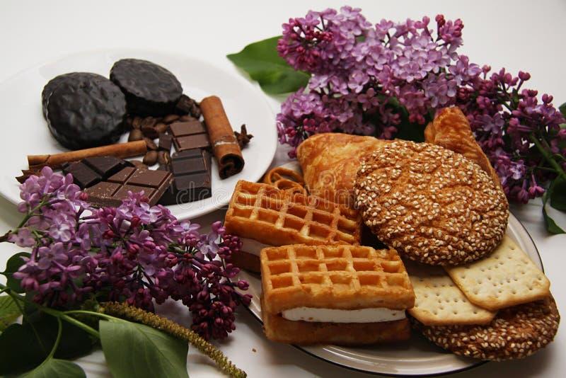Koekjes en chocolade 10 royalty-vrije stock foto's