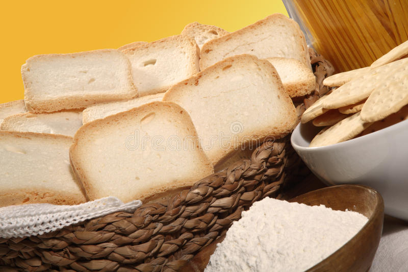 Koekjes en crackers stock foto