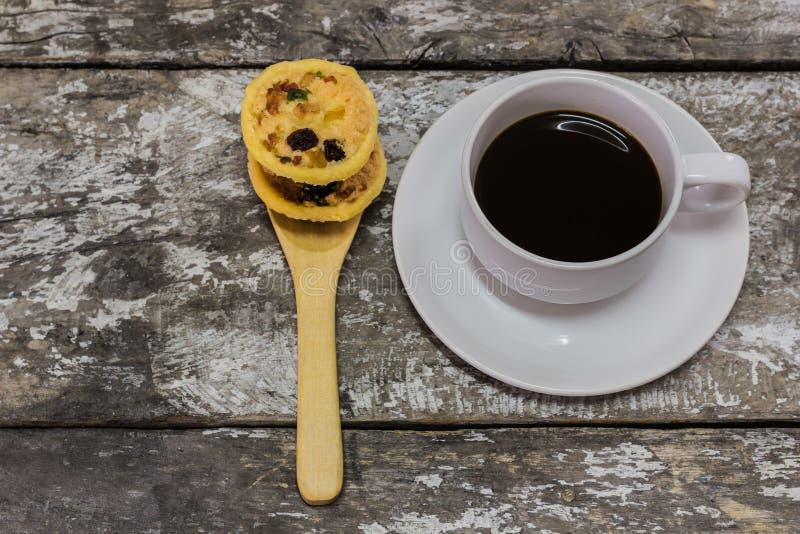 Koekjes en koffie stock fotografie