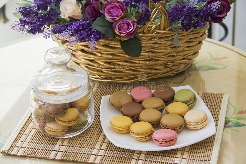 Koekjes macarons royalty-vrije stock fotografie