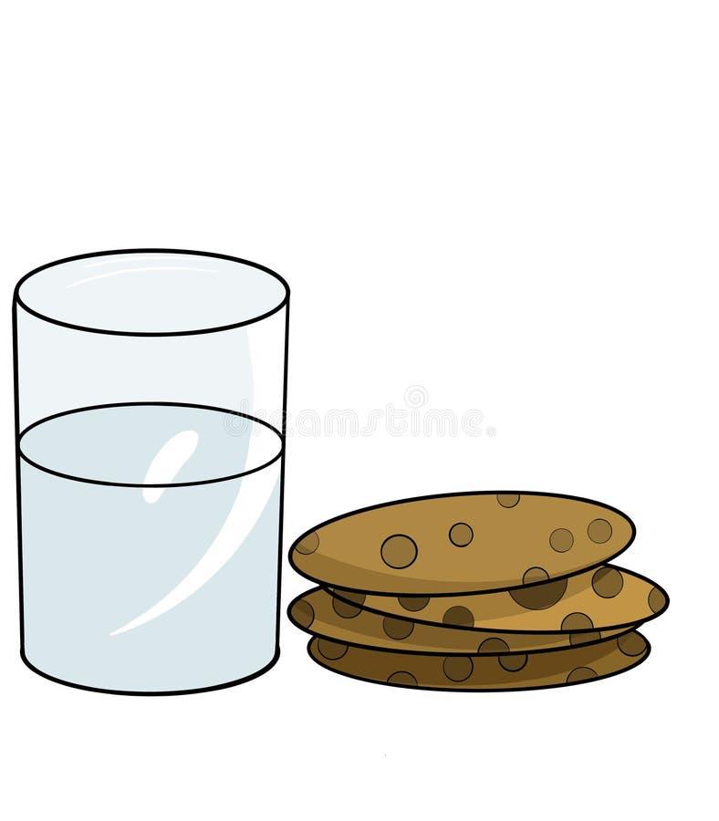 Koekjes met melk royalty-vrije stock afbeeldingen