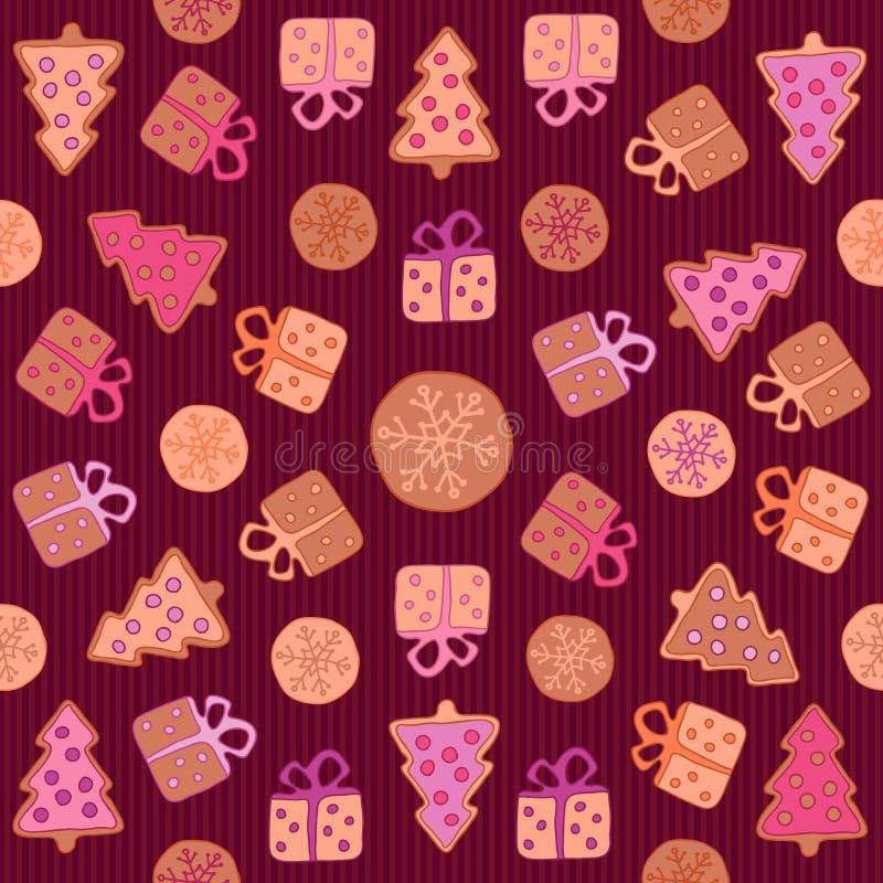 Koekjes naadloos patroon royalty-vrije stock foto's