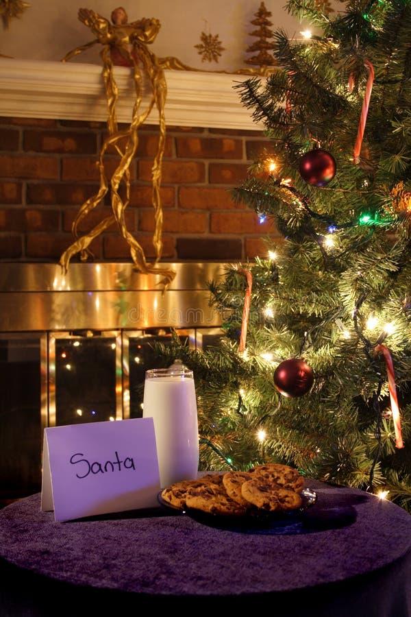 Koekjes voor Kerstman royalty-vrije stock foto
