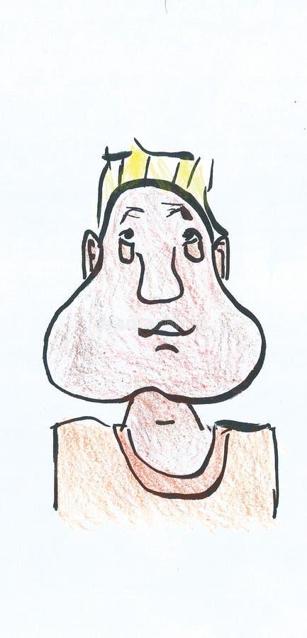 Koel Beeldverhaaljong geitje met geverft haar royalty-vrije illustratie