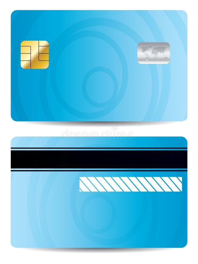 Koel blauw creditcardontwerp stock illustratie