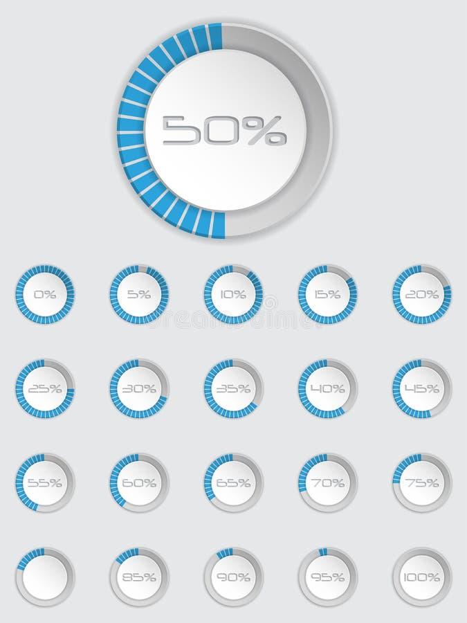 Koel 3d laderpictogram in blauw wordt geplaatst dat vector illustratie