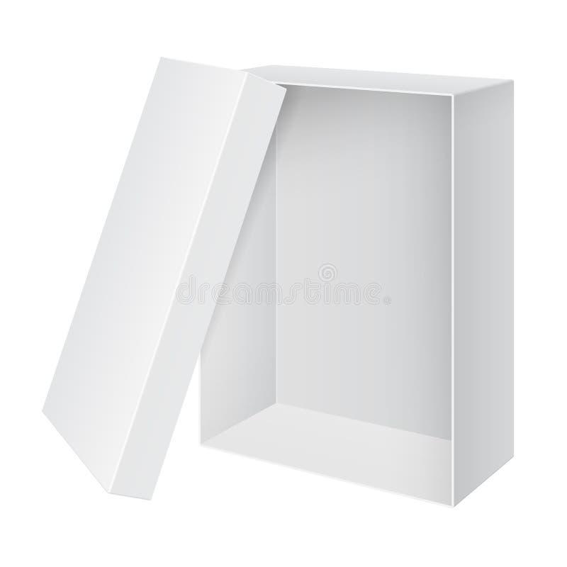 Download Koel De Realistische Witte Lege Geopende Doos Van Het Pakket Vector Illustratie - Illustratie bestaande uit verpakking, presentatie: 29501669