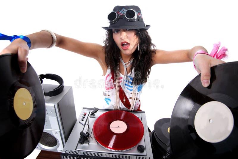 Koel DJ in actie stock afbeeldingen