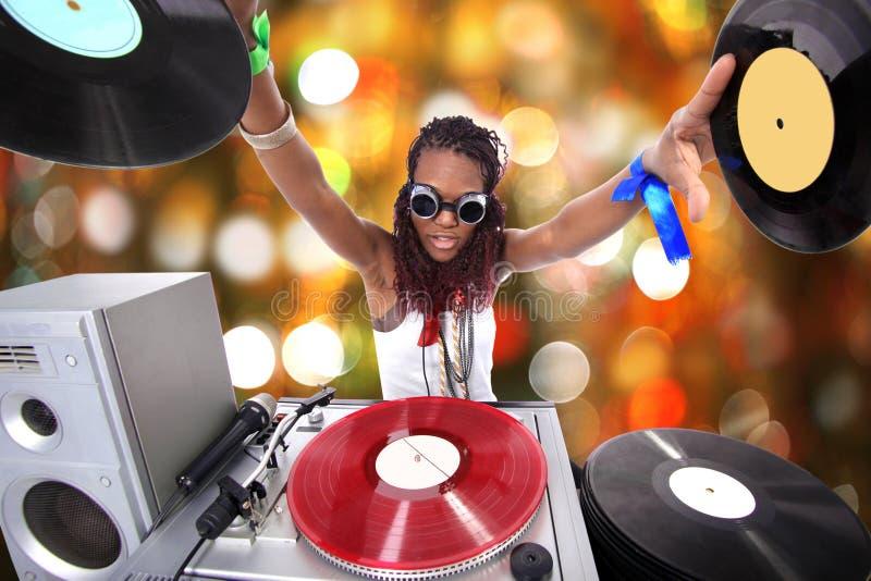 Koel DJ in actie royalty-vrije stock afbeelding