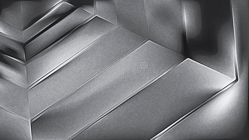Koel Grey Shiny Metal Texture stock illustratie