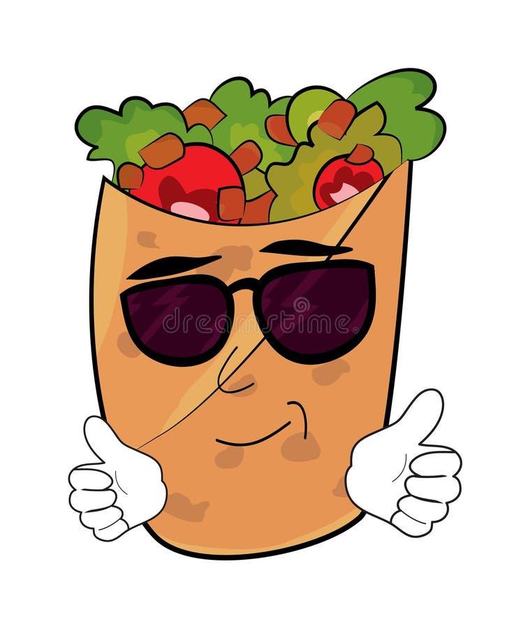 Koel Kebabbeeldverhaal vector illustratie