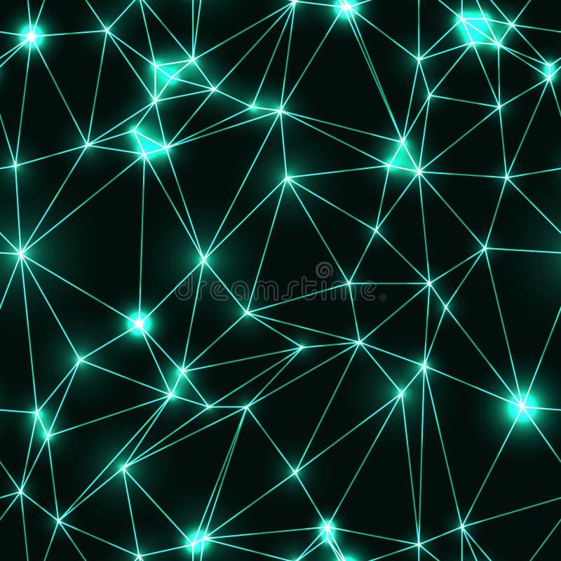 koel naadloos patroon met neondriehoeken royalty-vrije illustratie