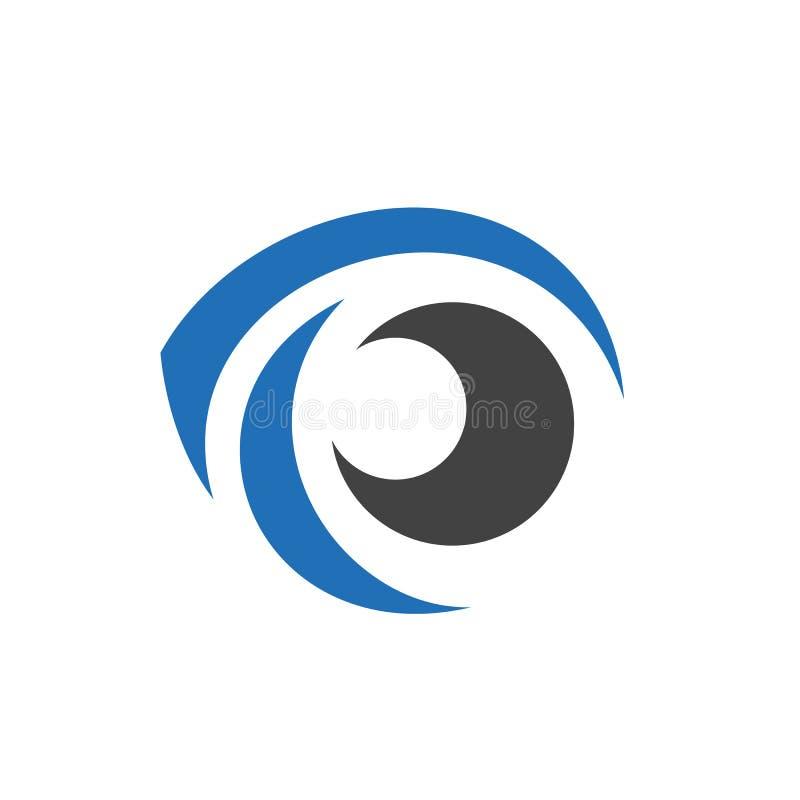 Koel Oog Logo Element Geïsoleerdj op witte achtergrond royalty-vrije illustratie