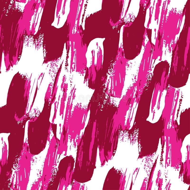 Koel roze kwaststreek modern naadloos patroon vector illustratie