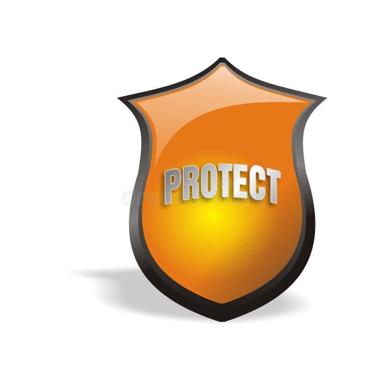 Koel Schild 2.0 beschermen royalty-vrije illustratie