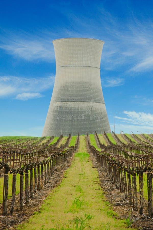 Koel toren van kerncentrale van Seca van de Rancho de royalty-vrije stock afbeeldingen