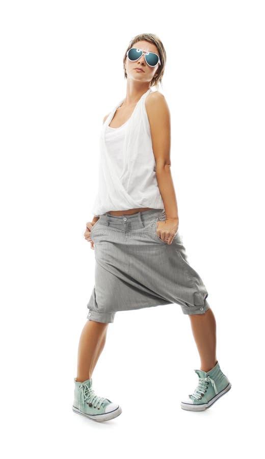 Download Koel trendy meisje stock foto. Afbeelding bestaande uit naughty - 10782552