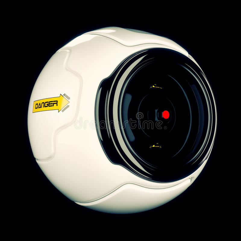 Koel webcam royalty-vrije stock fotografie