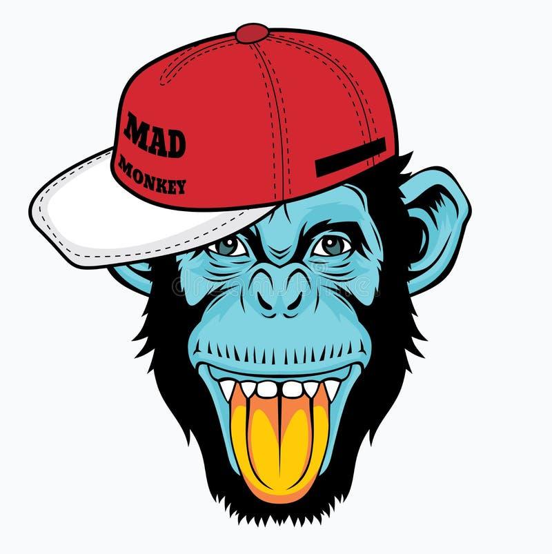 Koele aap stock illustratie