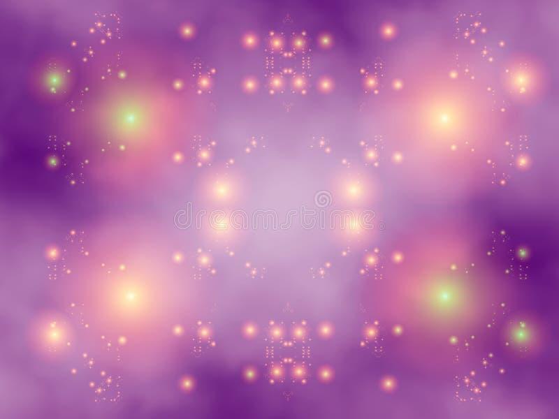 Koele bewolkte lichten vector illustratie