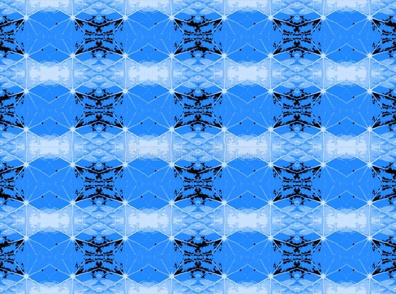 KOELE BLAUWE STERvormen MET ZWART-WIT vector illustratie