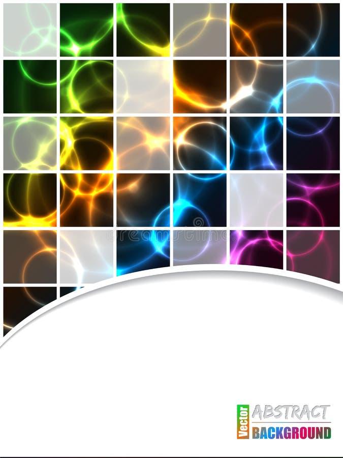 Koele brochure met vierkanten en kleurenplasma royalty-vrije illustratie