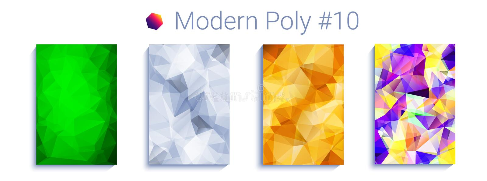Koele driehoekige gradiëntachtergrond Modern abstract geometrisch patroon Helder colorfullbehang Vector vector illustratie