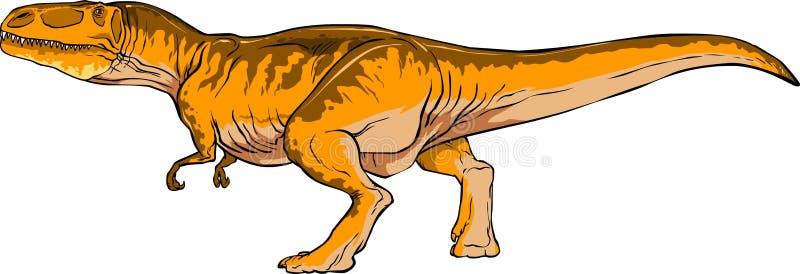Koele fiscious vectorgiganotosaurus vector illustratie
