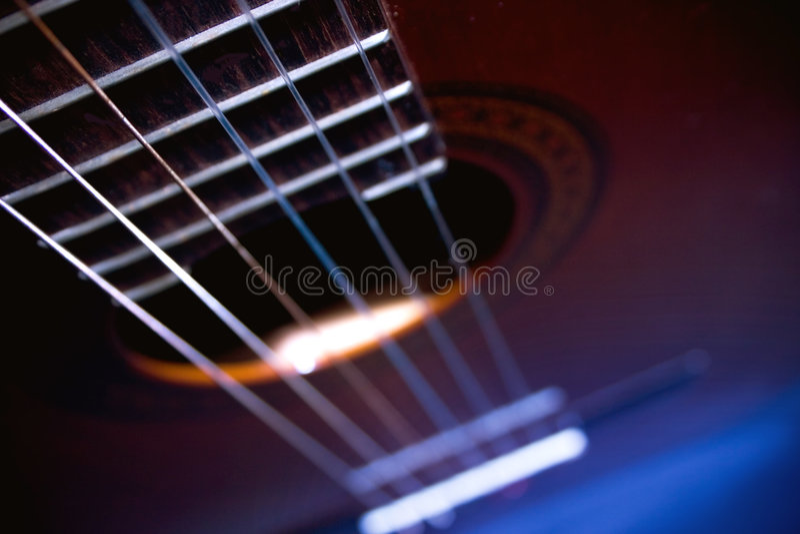 Koele gitaar stock foto's