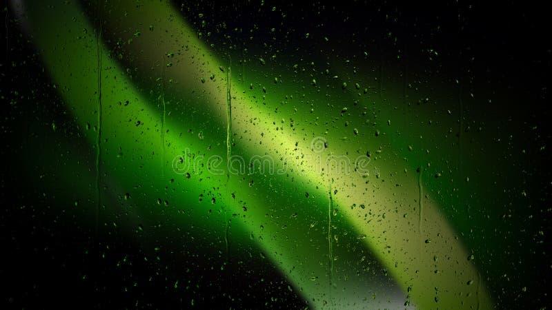 Koele Groene de Dalingenachtergrond van het Regenwater stock illustratie