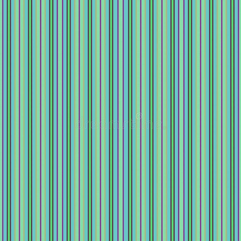 Koele groene en blauwe gestreepte achtergrond stock illustratie