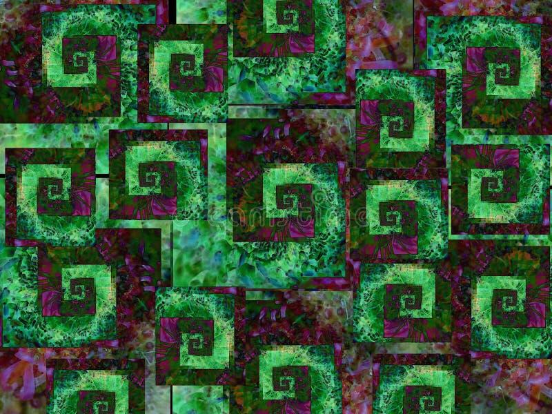 Koele Groene Purple Als achtergrond royalty-vrije illustratie