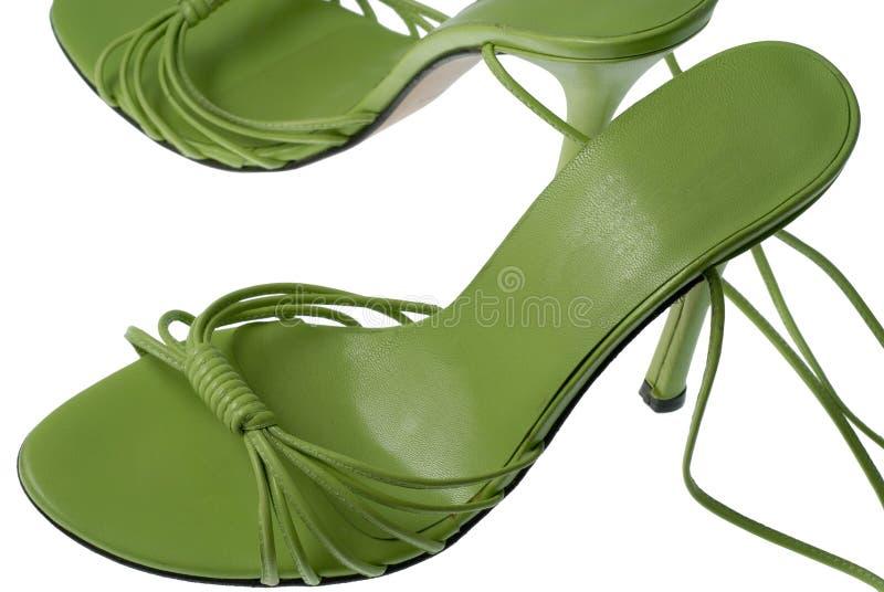 Koele groene schoenen stock afbeeldingen